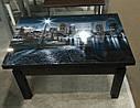 Стол трансформер Флай  венге магия со стеклом  06_156 журнально - обеденный, фото 3