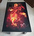 Стол трансформер Флай  венге магия со стеклом  06_156 журнально - обеденный, фото 5