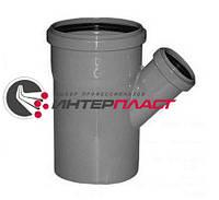 Тройник канализационный Интерпласт 110 мм с отводом 50 мм угол наклона 45°