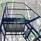 Лестница складская Н 1000 мм, передвижная лестница на склад, фото 8