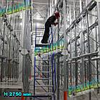 Драбина платформна Н1250 мм, пересувна сталева складська, фото 5
