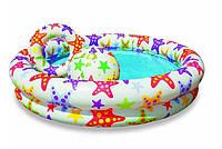 Бассейн детский надувной Intex 59460 с мячом и кругом 122х25 см, КОД: 944110