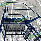 Складська драбина Н2750 мм, платформова, на колесах, фото 9
