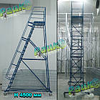 Платформова драбина складська Н4000 мм, фото 5