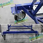 Платформова драбина Н4500 мм, складська драбина з перилами, фото 8