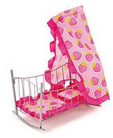 Кроватка для куклы Kronos Toys 9349 47 x 33 x 67 см Розовая int9349, КОД: 961294