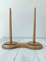 Держатель для пряжи двойной светлое дерево 130*25 см
