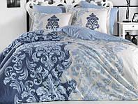 Комплект постельного белья Hobby 4725 Евро Поплин 200х220 см Голубой psgSA-4725, КОД: 944328