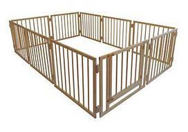 Манеж детский деревянный 72 см 10 секций с воротами Сосна МД10, КОД: 1548863