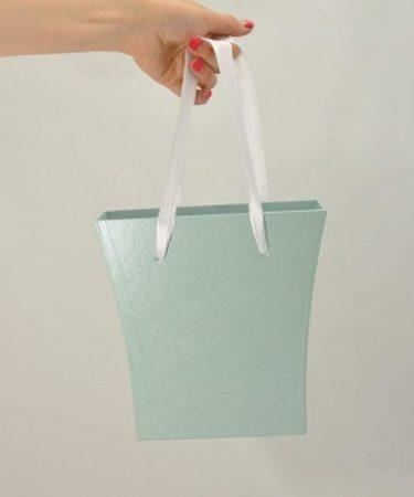 Картонная коробка под цветы с ручками Трапеция 200/150*75*200 мм