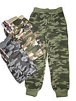 Спортивные камуфлированные брюки для мальчика с начесом оптом, размеры 152(2), арт. HZ 5657