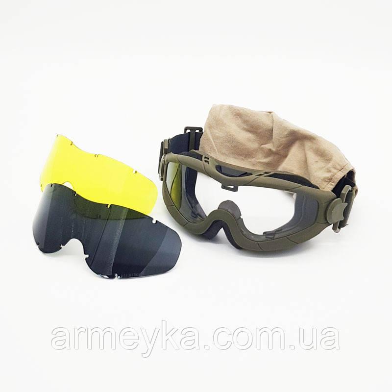 Балістичні окуляри-маска Trevix/Тревикс Д (3 лінзи), оригінал. НОВЕ.