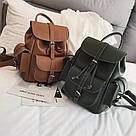 Рюкзак женский с карманами на затяжке рыжий., фото 6