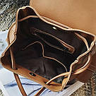Рюкзак женский с карманами на затяжке рыжий., фото 4