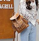Рюкзак женский с карманами на затяжке рыжий., фото 7