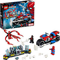 Лего человек паук на мотоцикле  76113 LEGO Spider-Man Bike Rescue, фото 1