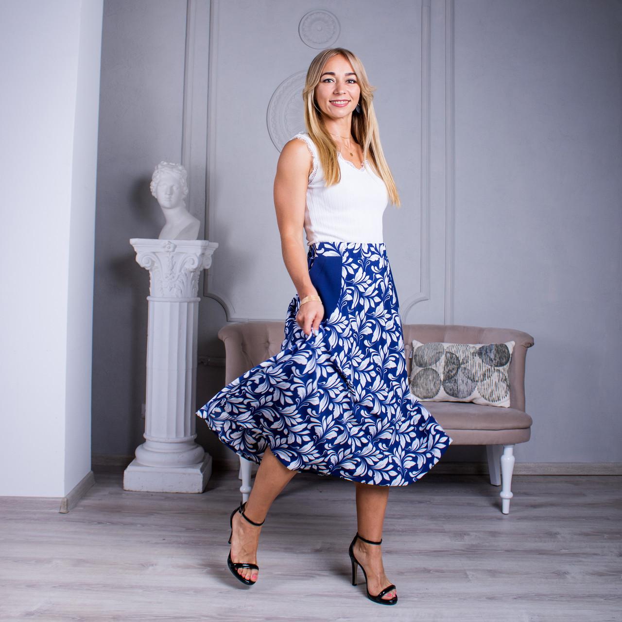 Женская юбка Линда софт 22 синяя