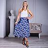 Женская юбка Линда софт 22 синяя, фото 2