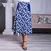 Женская юбка Линда софт 22 синяя, фото 6