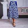 Женская юбка Линда софт 22 синяя, фото 3