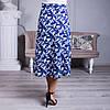 Женская юбка Линда софт 22 синяя, фото 8