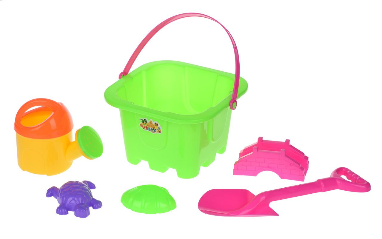 Набор для игры с песком Same Toy 6 шт.Зелений (HY-1142WUt-1)