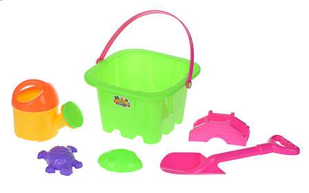 Набор для игры с песком Same Toy 6 шт.Зелений (HY-1142WUt-1), фото 2