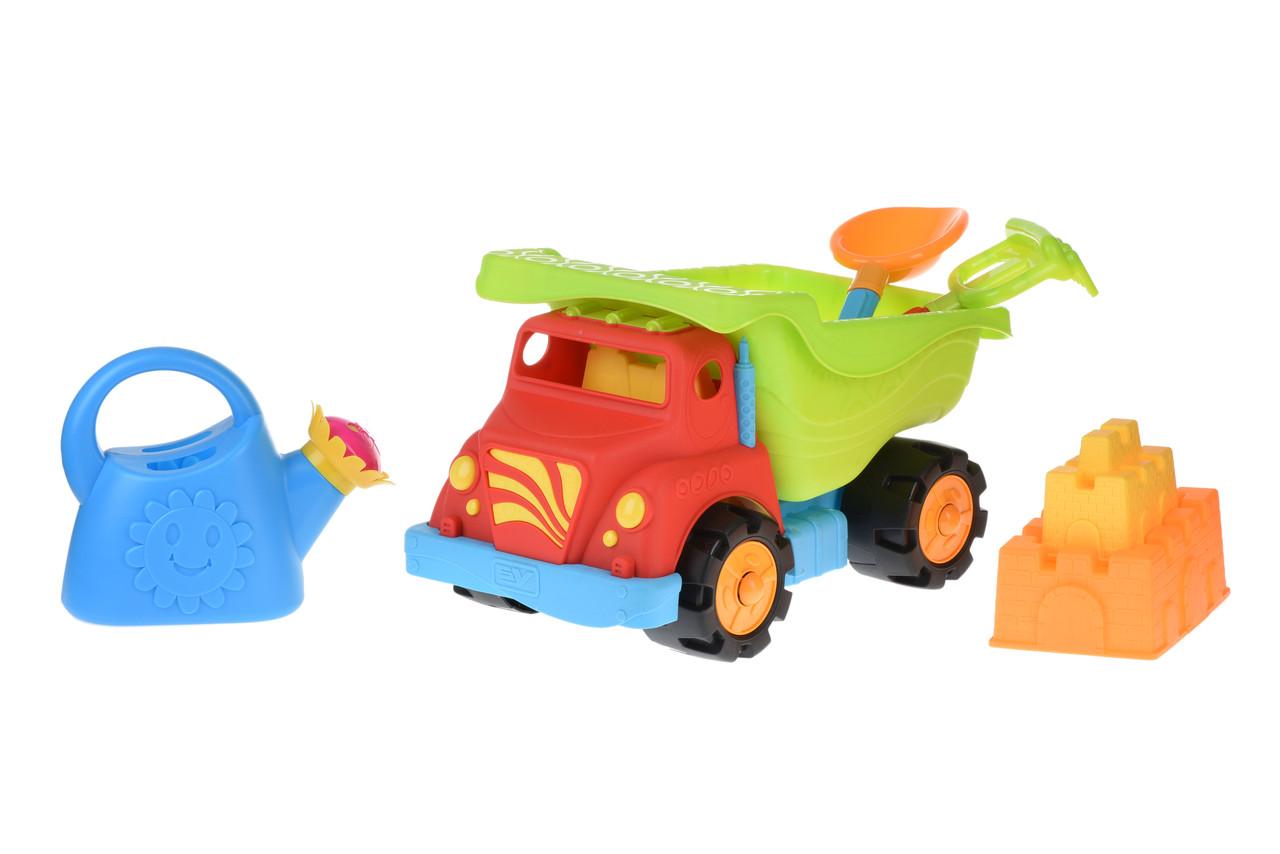 Набір для гри з піском Same Toy 6 шт. Вантажівка Червоний (973Ut-1)