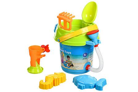 Набір для гри з піском Same Toy 6 шт. Відерце Синє (969Ut-1), фото 2