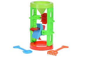 Игрушка для песочницы Same Toy Мельница Красно-голубой (B023Ut-2), фото 2
