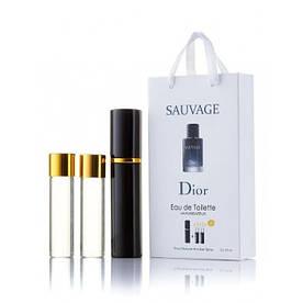 Мужской мини парфюм Christian Dior Sauvage, 3*15 мл