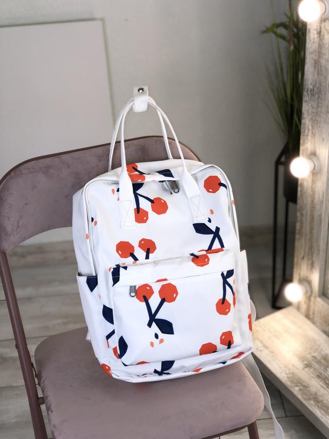Сумка-рюкзак с принтом вишенки