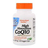 Коэнзим Doctors Best, Q10, CoQ10 with BioPerine, биоперин, 200 мг, 60 жидких капсул 484, КОД: 1535285
