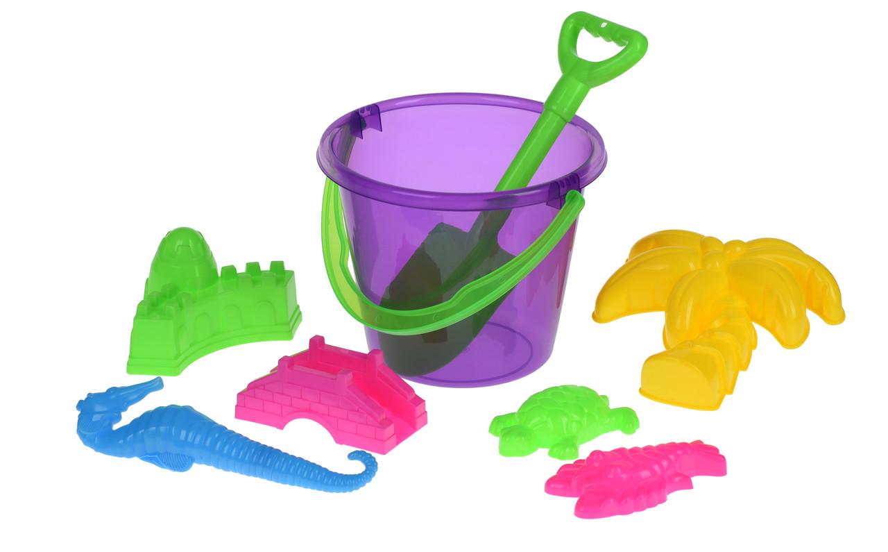 Набор для игры с песком Same Toy 8 шт.фиолетове Ведерко (HY-1204WUt-2)