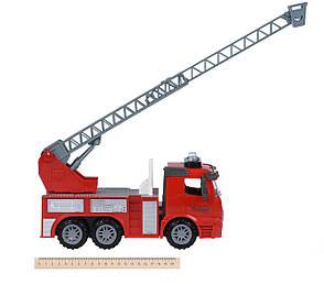 Машинка інерційна Truck Пожежна з висувною драбиною зі світлом і звуком (98-616AUt), фото 2