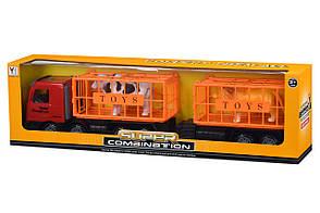 Машинка інерційна Same Toy Super Combination Вантажівка з причепом Червоний (98-91Ut-1), фото 3