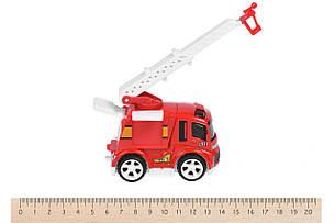Машинка Same Toy Mini Metal Пожежна з драбиною (SQ90651-4Ut-2), фото 2