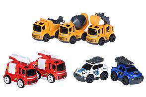 Машинка Same Toy Mini Metal Пожежна з драбиною (SQ90651-4Ut-2), фото 3