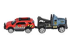 Набор машинок Same Toy Diecast Грузовик с джипами (80956-6Ut), фото 3