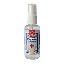 Антисептическая жидкость для рук без ароматизатора со спреем Торговый дом Ева 50 мл 12350100303, КОД: 1721421