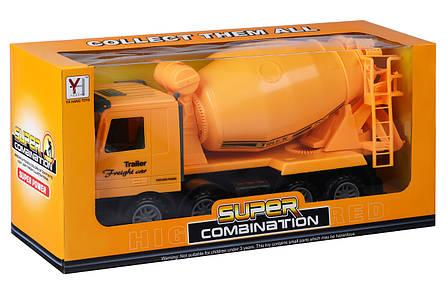 Машинка інерційна Same Toy Super Combination Бетонозмішувач Жовтий (98-85Ut-2), фото 2