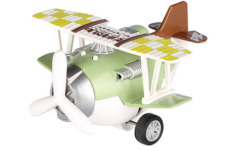 Літак металевий інерційний Same Toy Aircraft зі світлом і музикою Зелений (SY8015Ut-2), фото 2