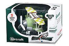 Літак металевий інерційний Same Toy Aircraft зі світлом і музикою Зелений (SY8015Ut-2), фото 3