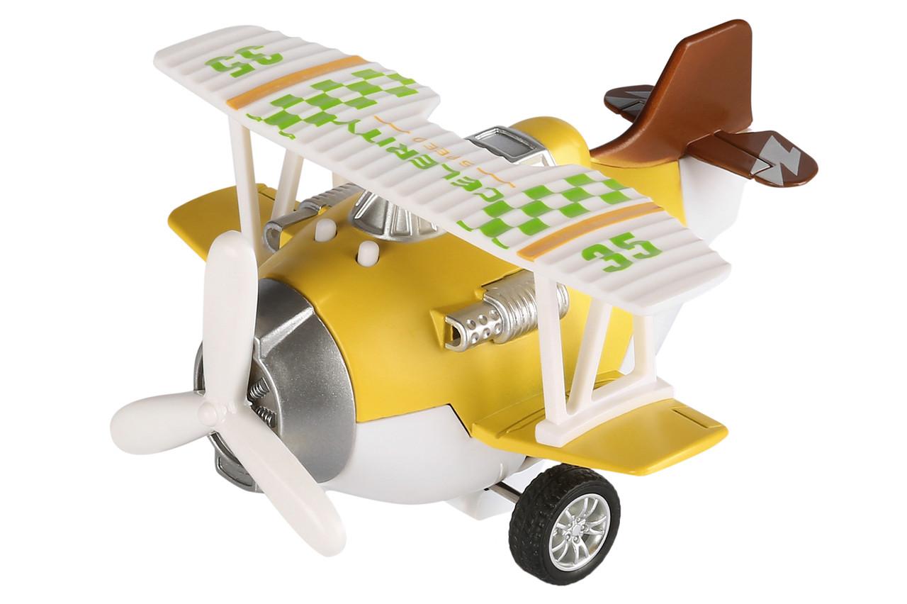 Самолет металлический инерционный Same Toy Aircraft Желтый (SY8016AUt-1)