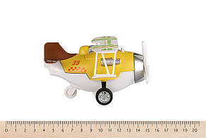 Самолет металлический инерционный Same Toy Aircraft Желтый (SY8016AUt-1), фото 2