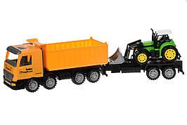 Машинка инерционная Same Toy Super Combination Самосвал с бульдозером Желтый (98-89Ut-2)
