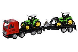 Машинка инерционная Same Toy Super Combination Тягач с трактором и бульдозером Красный (98-90Ut-1)