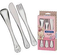 Набор столовых приборов Tramontina Baby Le Petit для детей 3 предмета Розовый psgTR-66973 005, КОД: 1322538