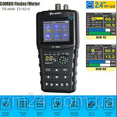 VF-6800 DVB-T2 DVB-S2 спутниковый прибор комбо LCD DVB-T DVB-C-Combo Sat Finder +подарок