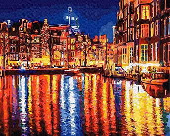 Картина по номерам Отражение вечернего города (BK-GX34713) 40 х 50 см